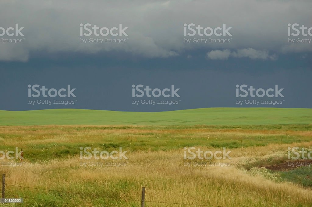 Dark Summer Storm Clouds stock photo
