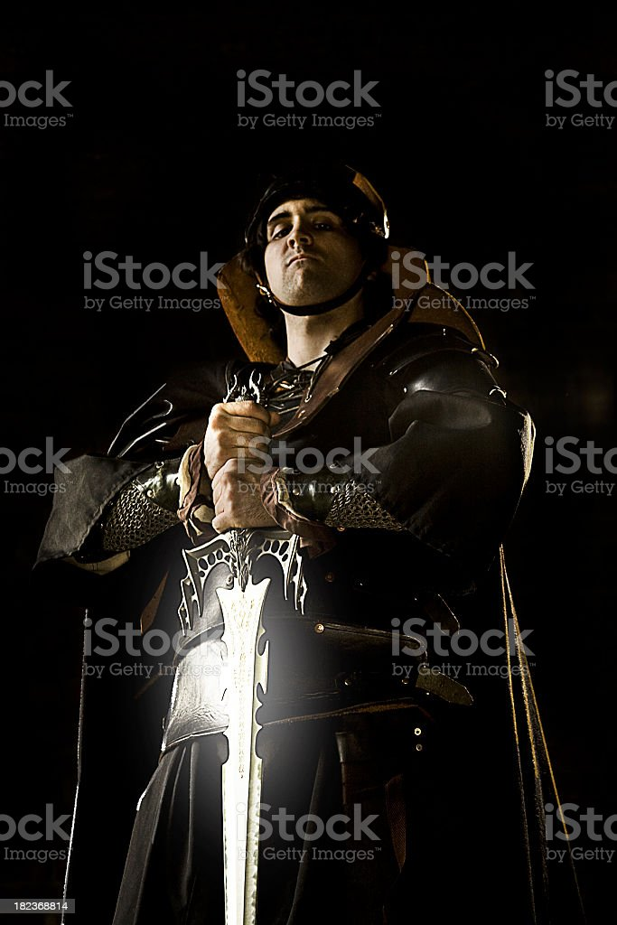 Dark Swordsman royalty-free stock photo