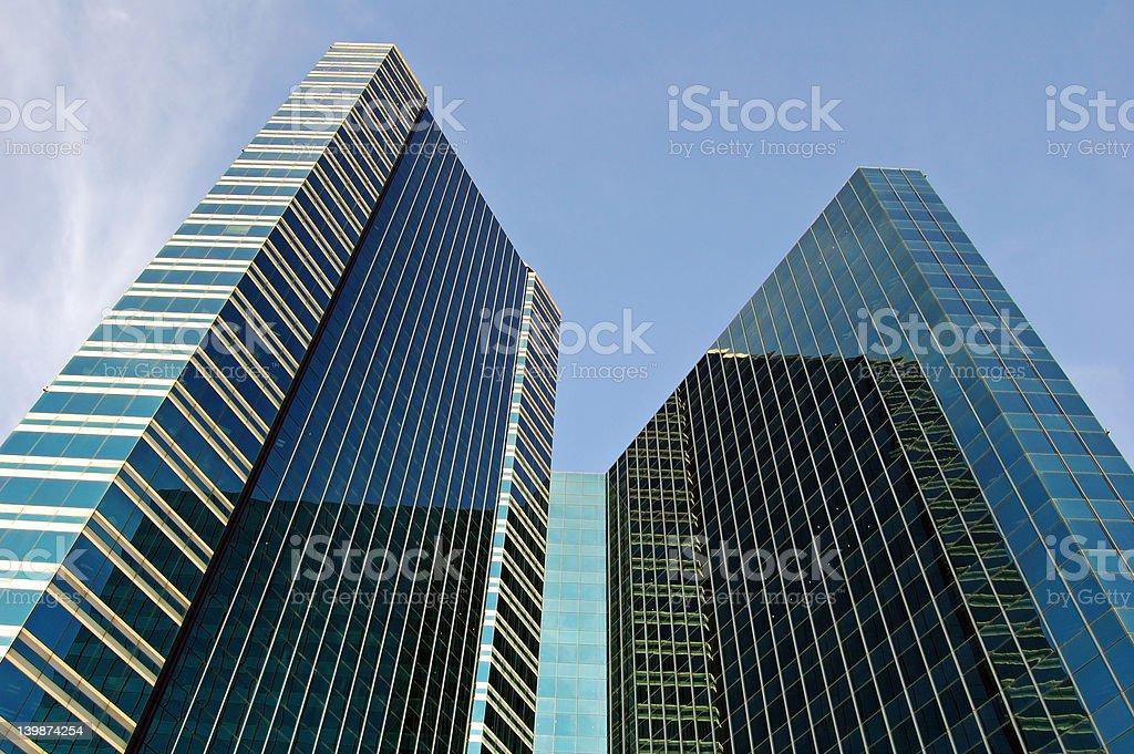 Dark towers stock photo