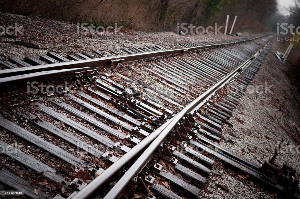 Dark Train Tracks royalty-free stock photo
