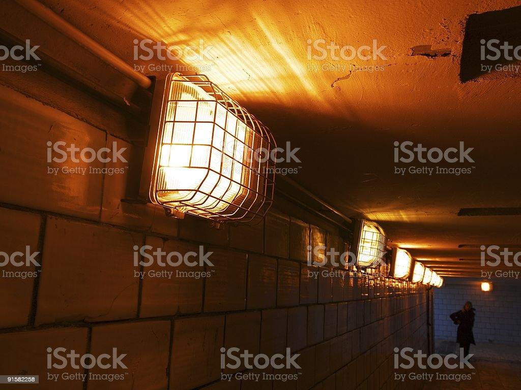 Dark tunnel royalty-free stock photo
