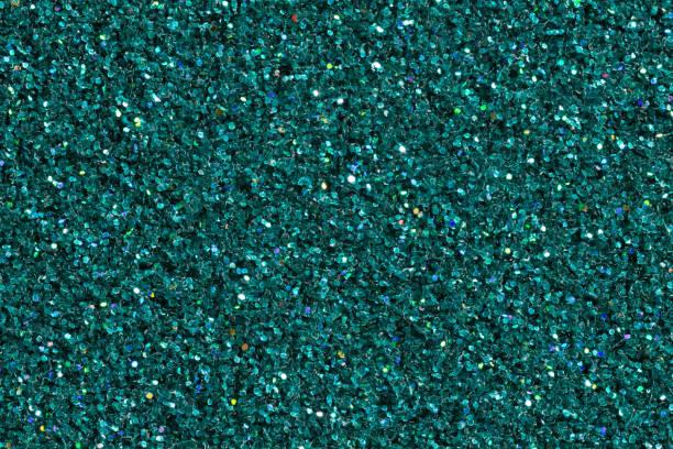 Dark turquoise shining background with glitter stock photo