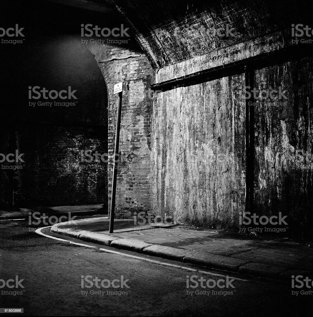 Dark Underpass royalty-free stock photo