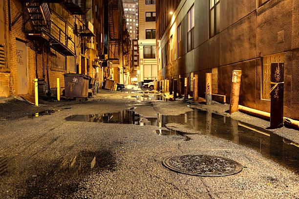 Dark Urban Road stock photo