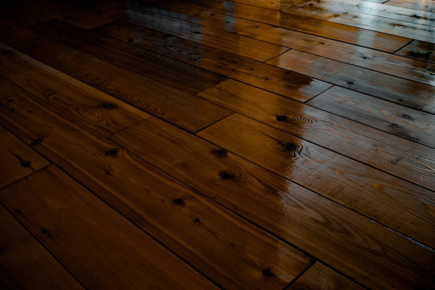 Dark varnished wooden floor dark varnished wooden floor lacquered stock pictures, royalty-free photos & images