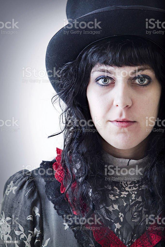 Dark Victorian Woman Portrait royalty-free stock photo