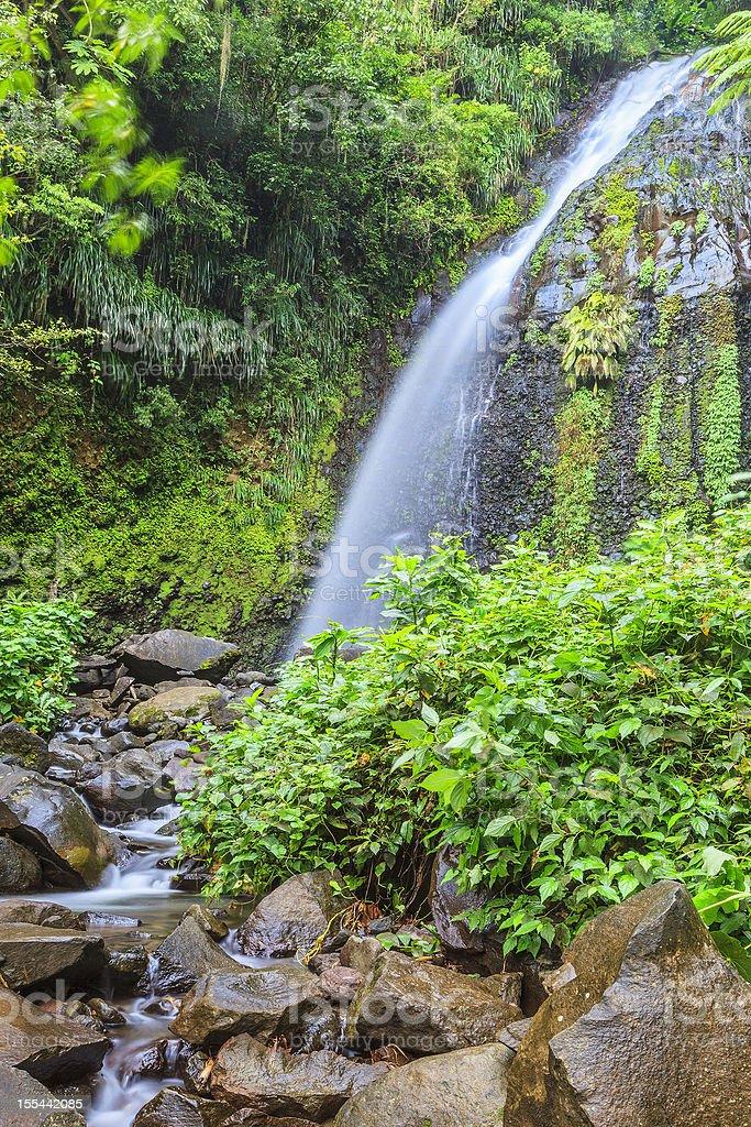 Dark View Falls, St. Vincent stock photo