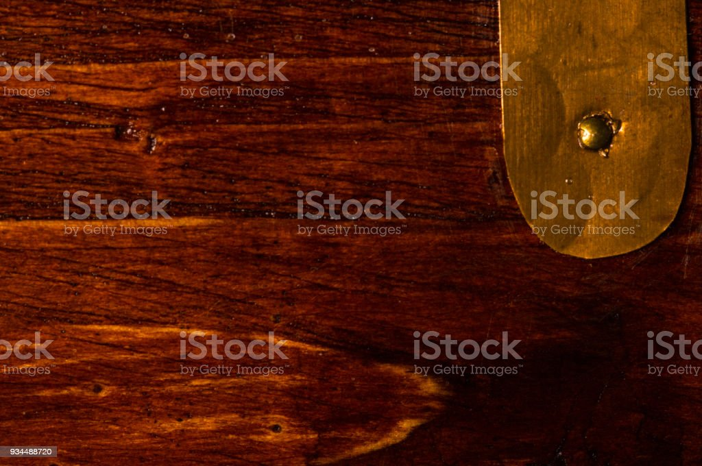 Dark Weathered Teak Wood With Copper Royalty Free Stock Photo