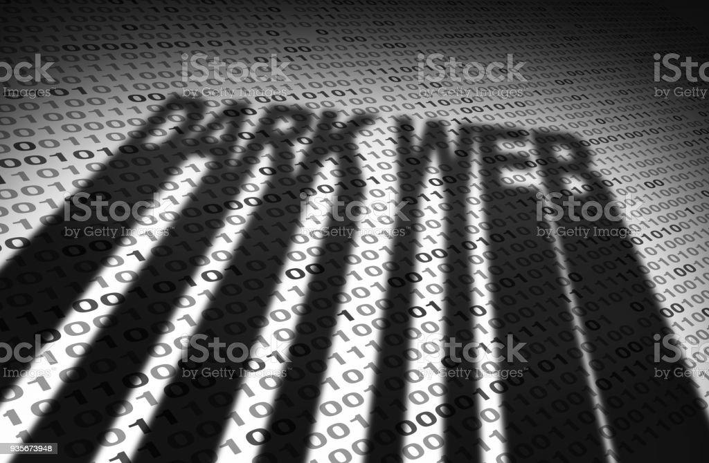 Dunklen Web-Konzept – Foto