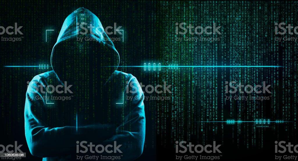 Dark Web Hooded Hacker Stock Photo - Download Image Now - iStock