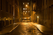 istock Dark wet street 171247262