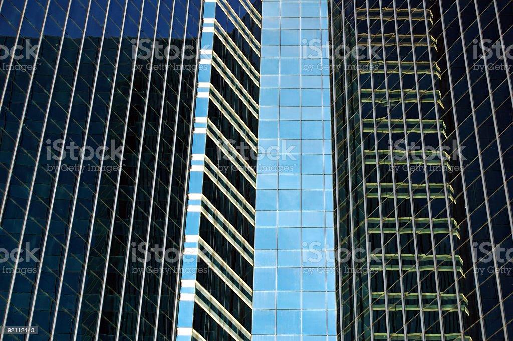 Dark windows stock photo