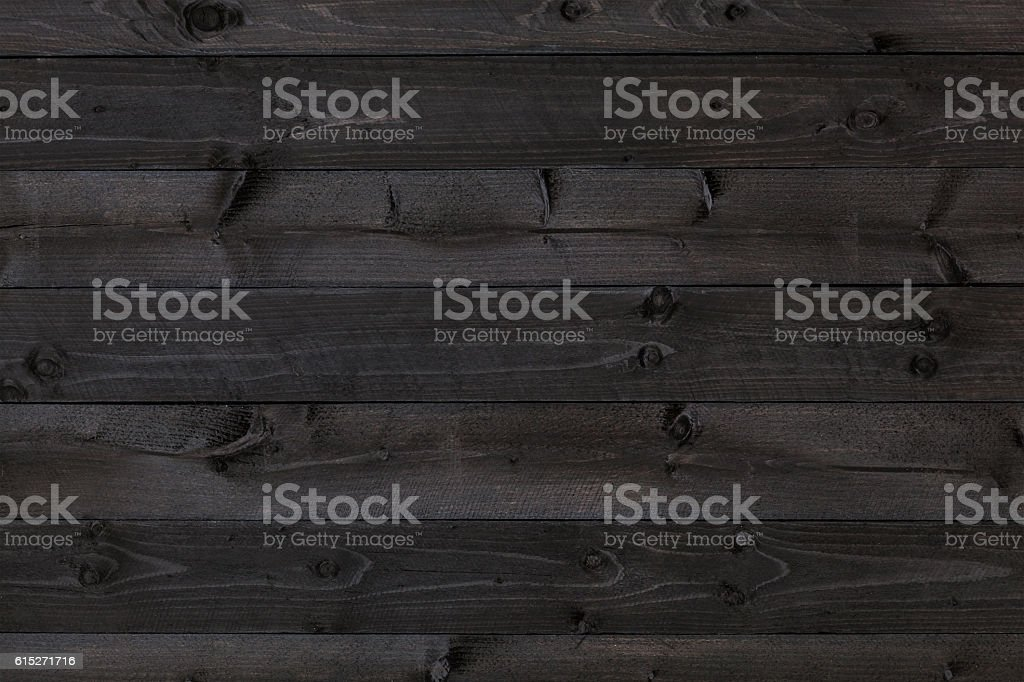Dark wood background, black texture stock photo