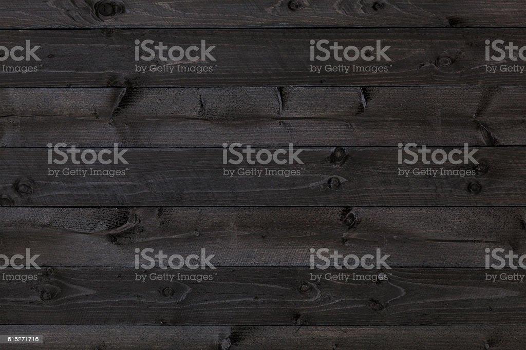 Dark Wood Background, Black Texture Stock Photo