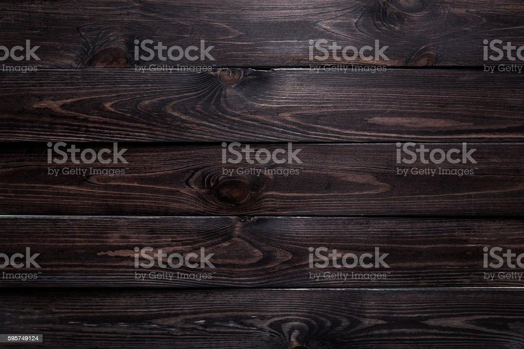 Wonderful Dark Wood Background Stock Photo