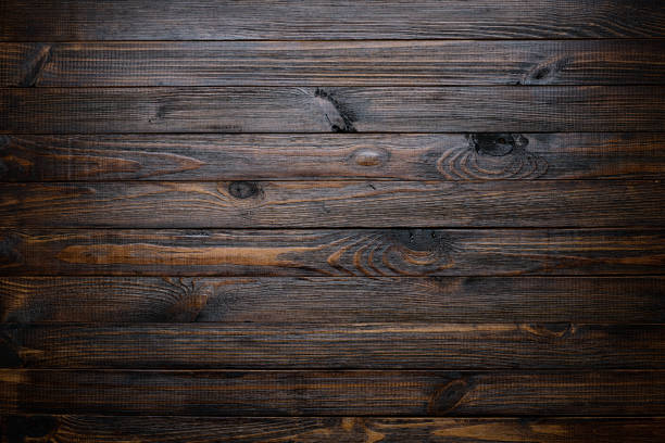 Dark wood background - foto stock