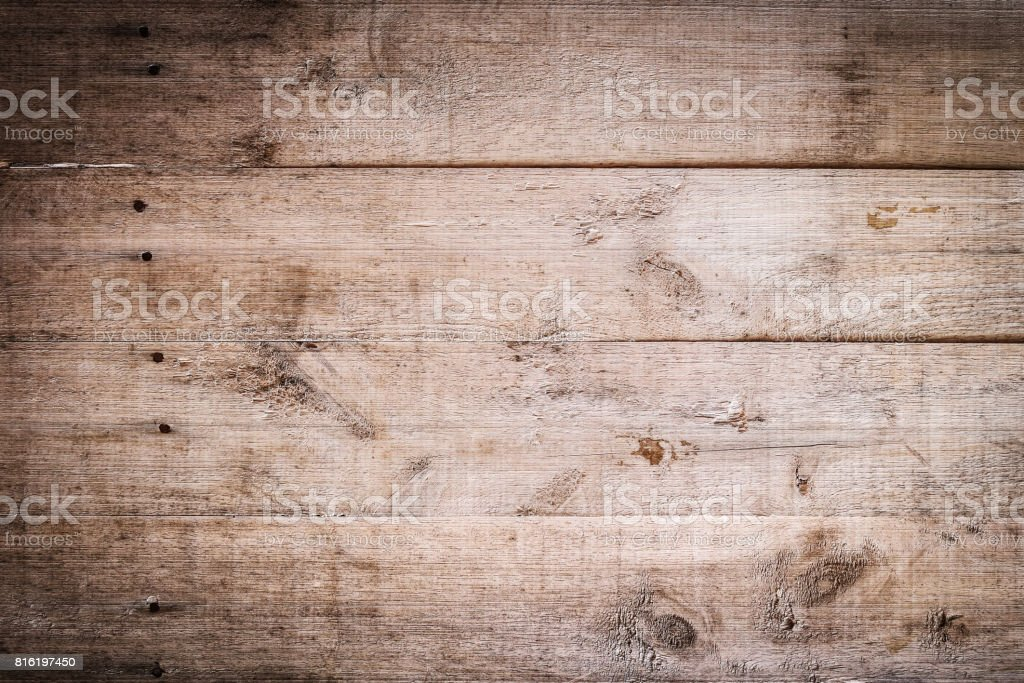 dark wood brown aged plank texture, vintage background stock photo