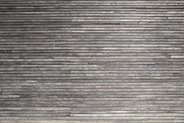 Dunkles Holz cladding ein modernes Gebäude – Foto