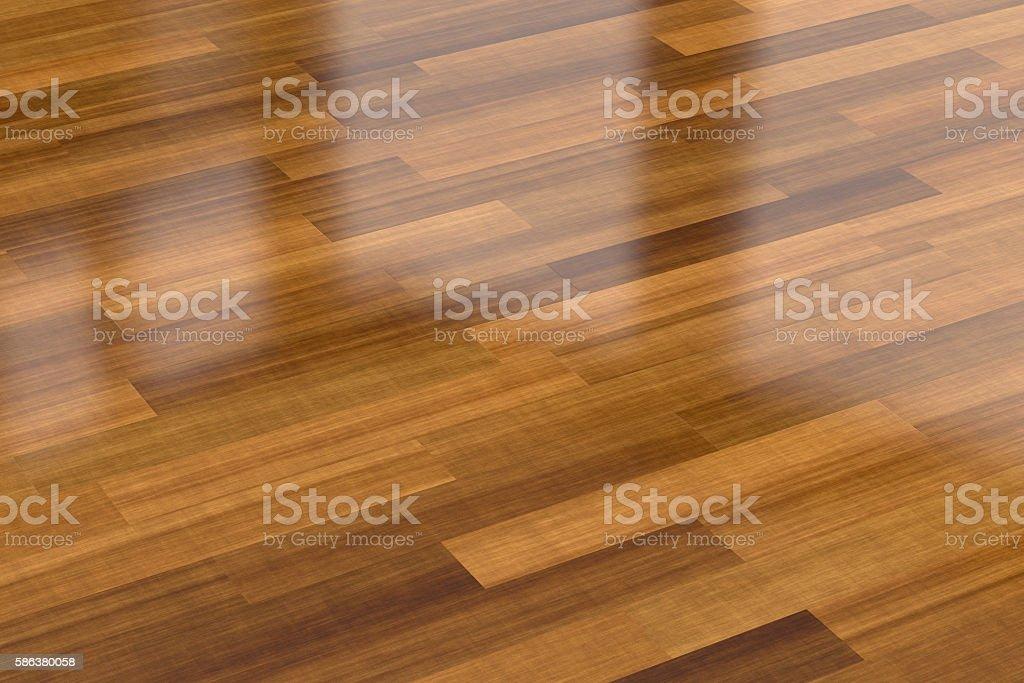 Dark wood parquet floor, background stock photo