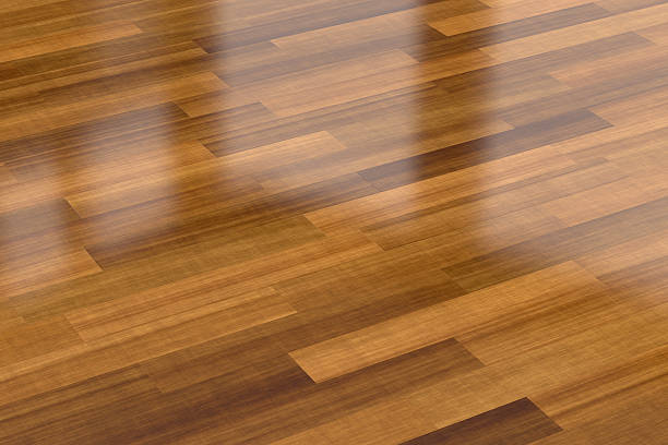 Dark wood parquet floor, background stock photo