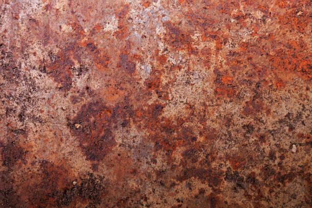 Dark worn dirty rusty metal. Textured background stock photo