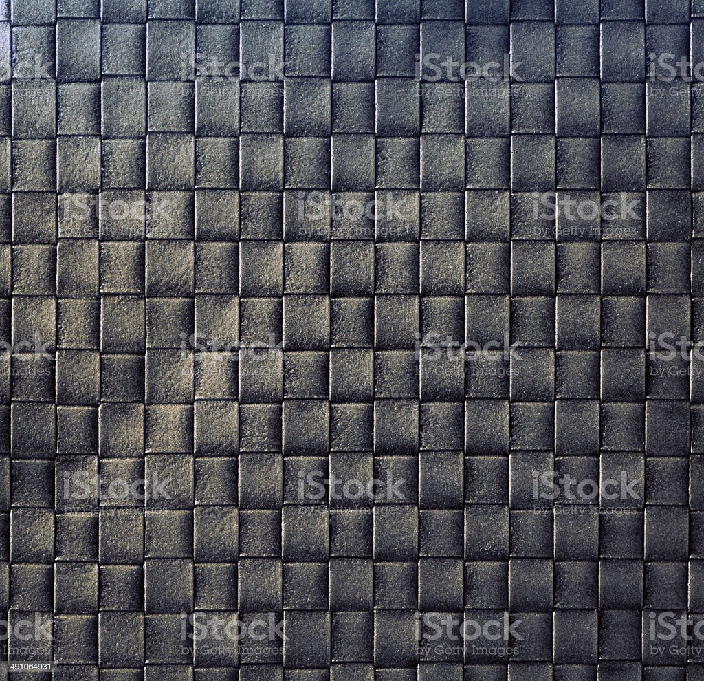 Dark woven leather background royalty-free stock photo