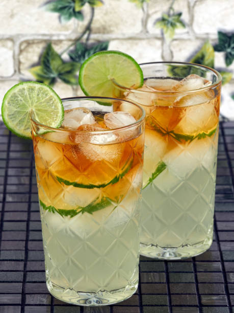 Dark'n Stormy Cocktails stock photo