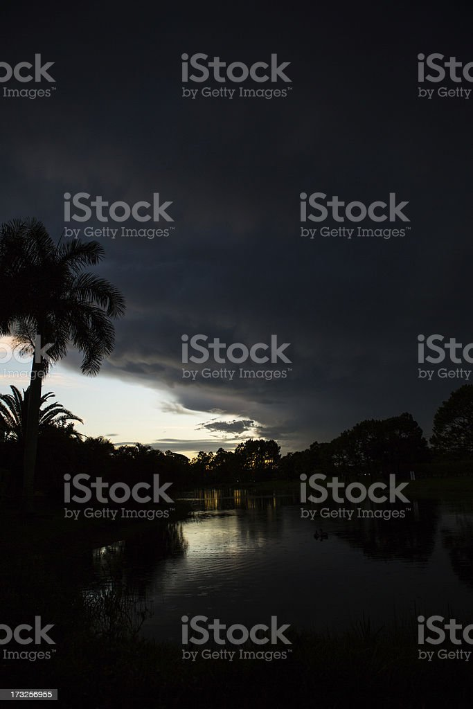 Darkness Descends on Tropical Paradise stock photo