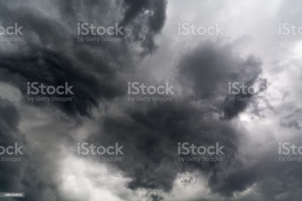 Darkness Of Solid Cloudy Sky stock photo