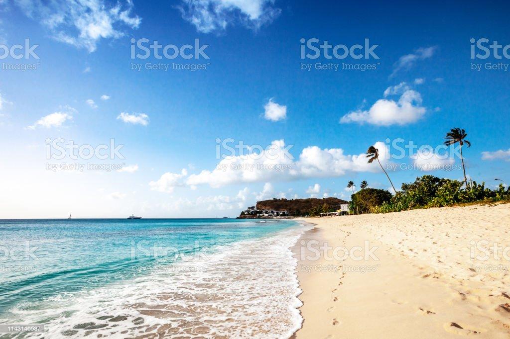 Darkwood beach, Antigua & Barbuda stock photo
