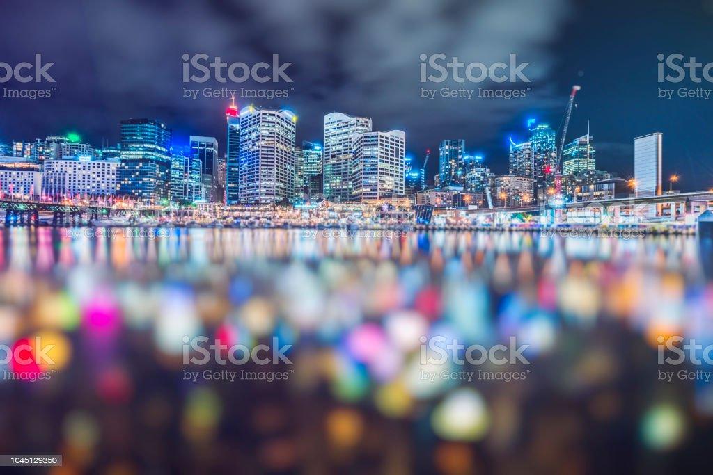 Darling Harbor Unscharf gestellt, Sydney – Foto
