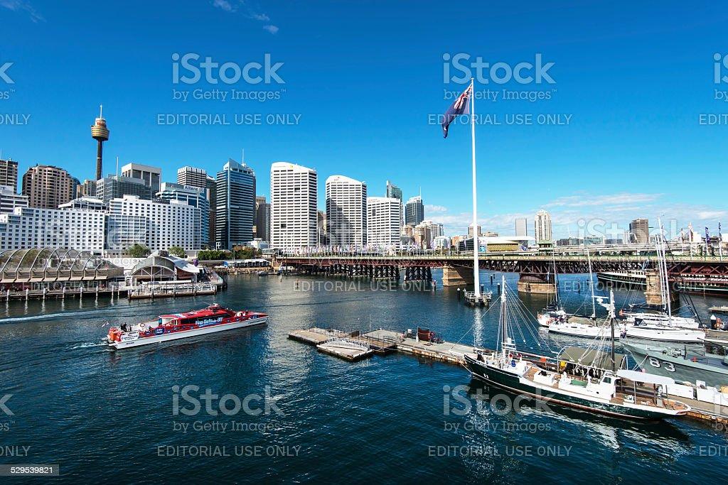 Darling Harbour in Sydney, Australia stock photo