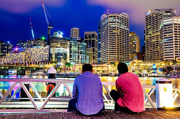 darling harbour, sydney, australia - barangaroo stock photos and pictures