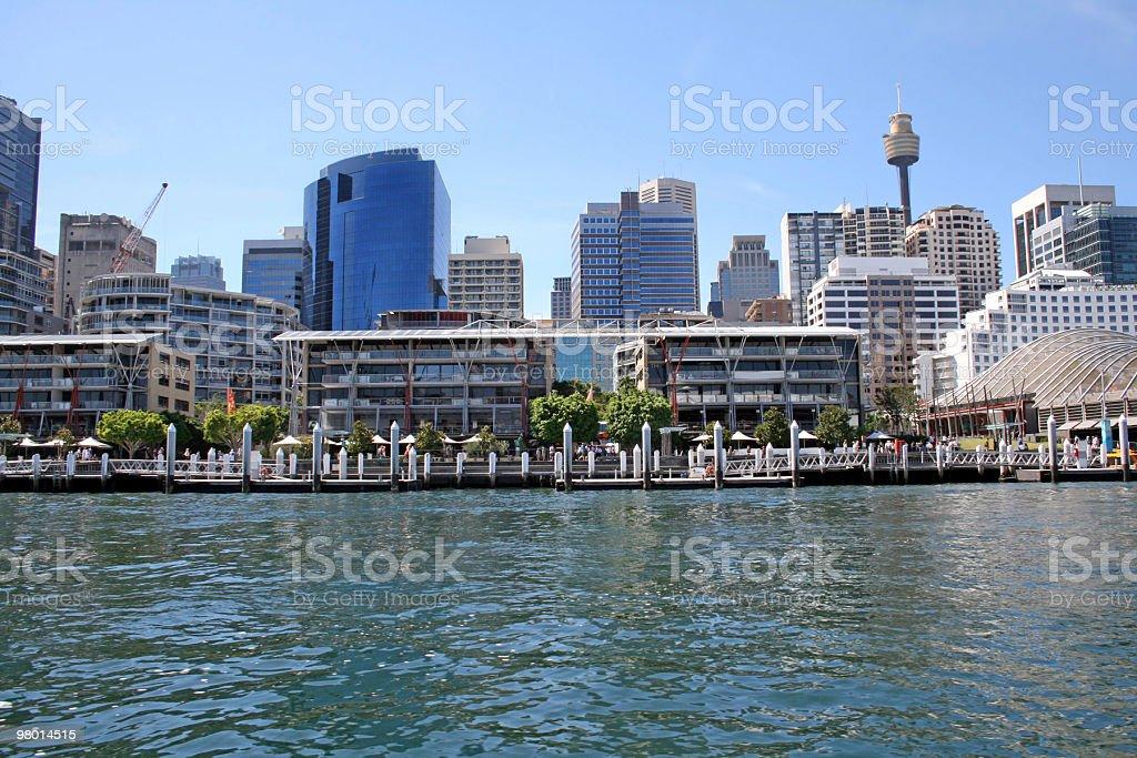 Darling Harbour, Sydney Skyline royalty-free stock photo