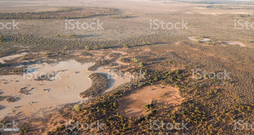 Darling river flood plains Darling river flood plains near the outback town of Wilcannnia. Accidents and Disasters Stock Photo