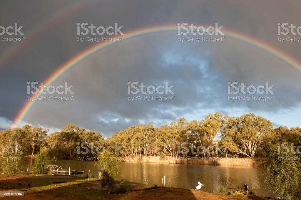 Darling river stock photo