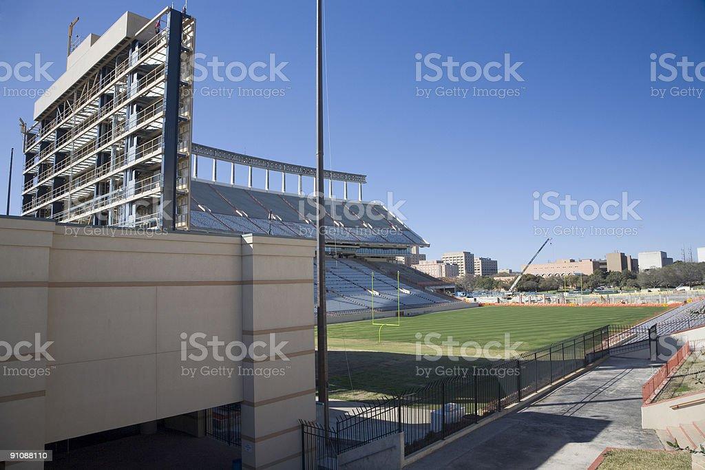 Darrell K Royal - Texas Memorial Stadium north endzone construction royalty-free stock photo