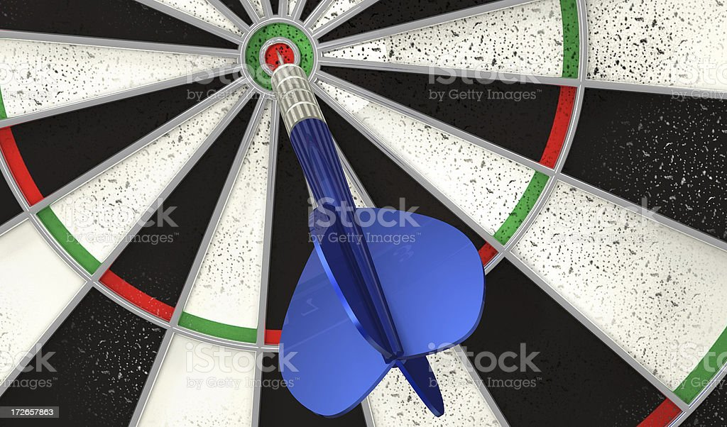 Dart accuracy - Bull's eye royalty-free stock photo