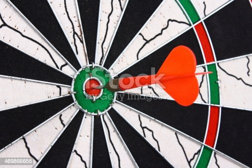 istock Dart and dartboard 469866655