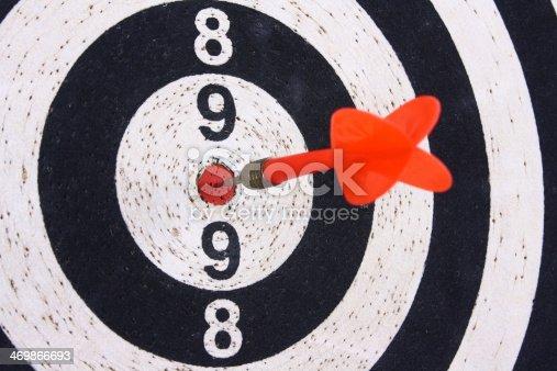 istock Dart and dartboard 469866693
