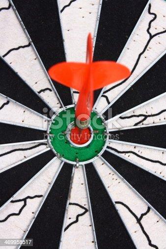 istock Dart and dartboard 469958517