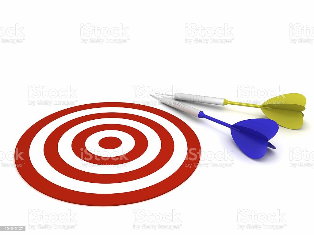 Dart and Target Concept royalty-free stock photo