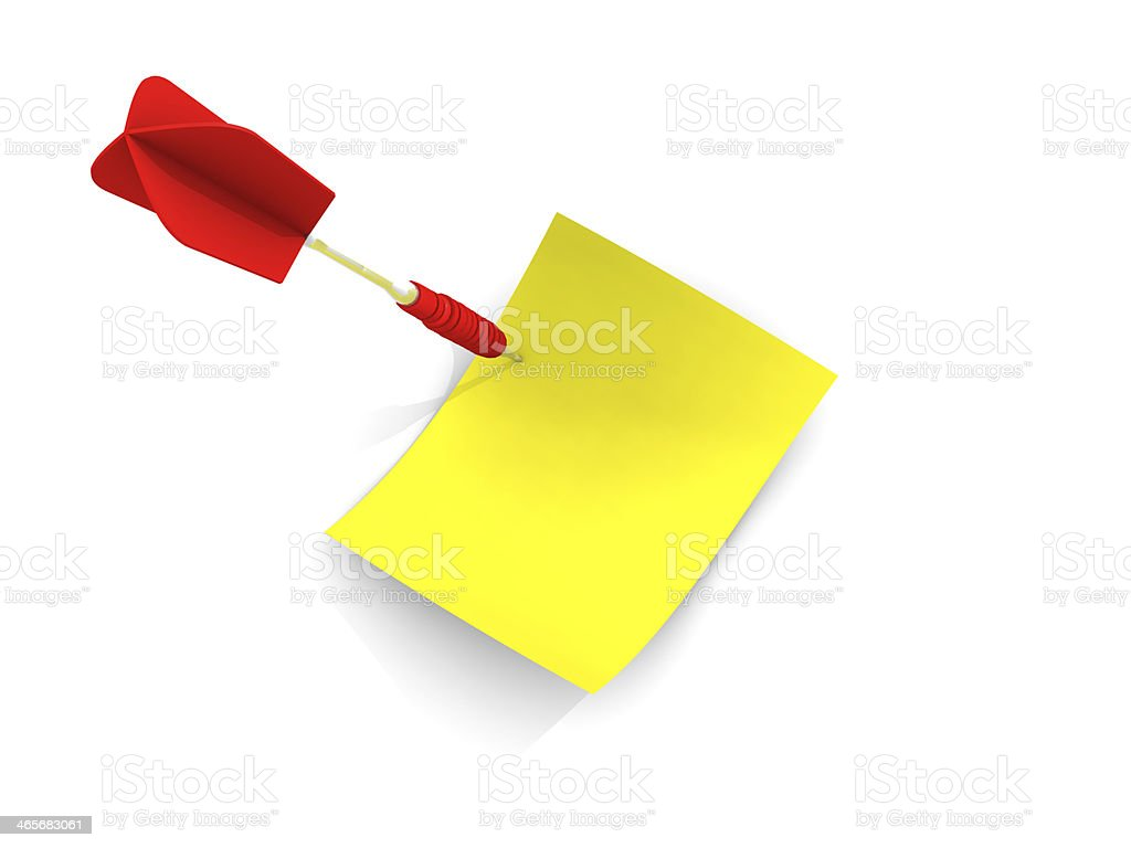 Dart Arrow and Postits royalty-free stock photo