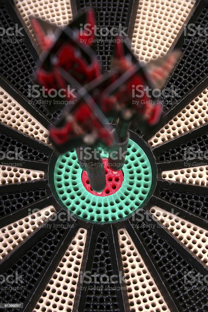Dart arrows in the middle royalty-free stock photo