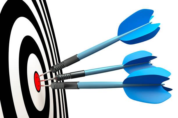 dart arrows stock photo