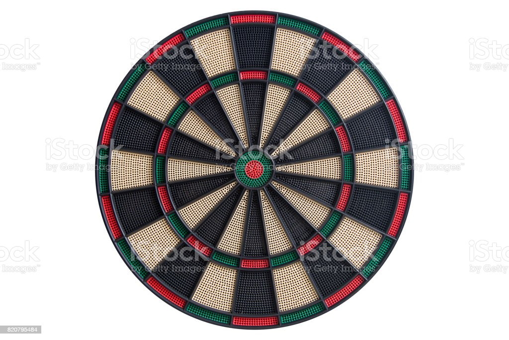Dart board front view stock photo