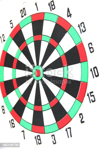 istock Dart board isolated. 480436795
