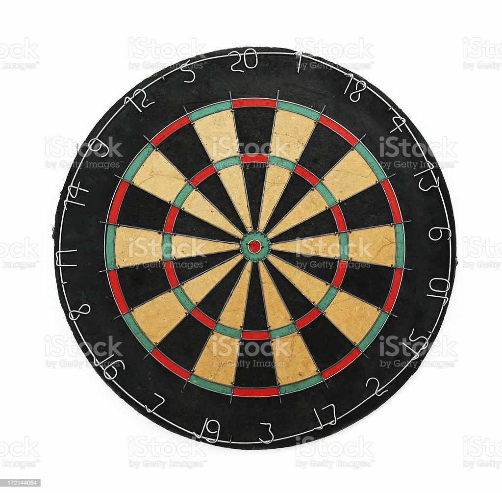 dart board stock photo