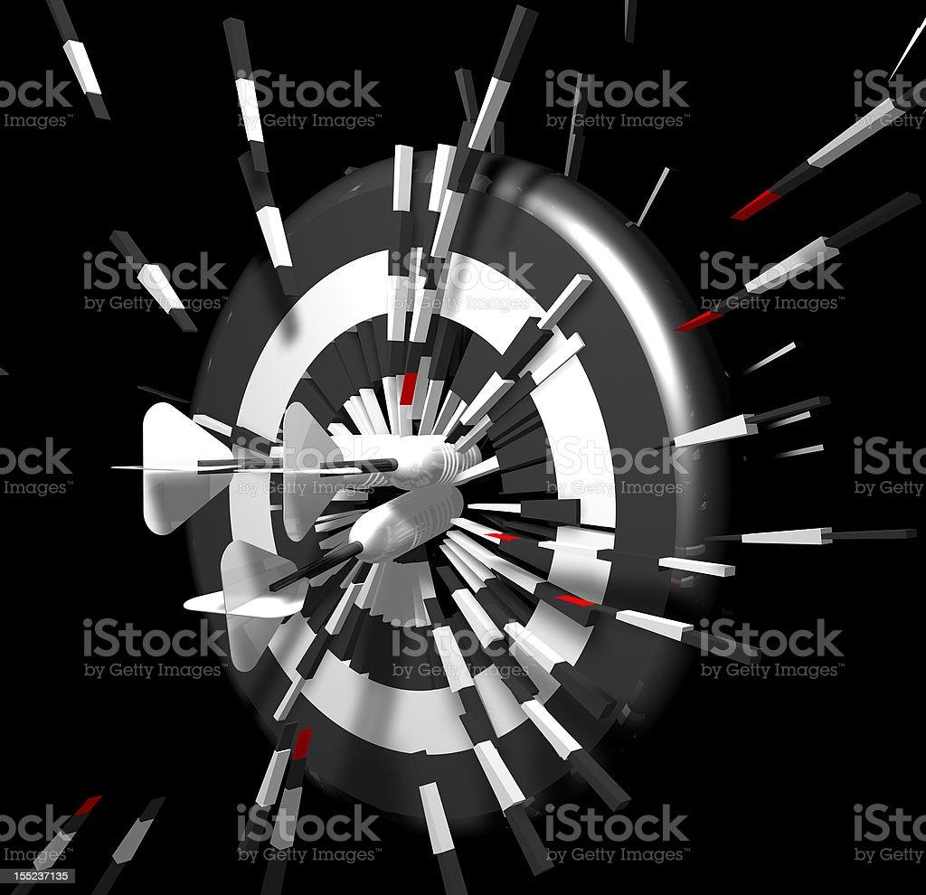 Dart Bomb royalty-free stock photo