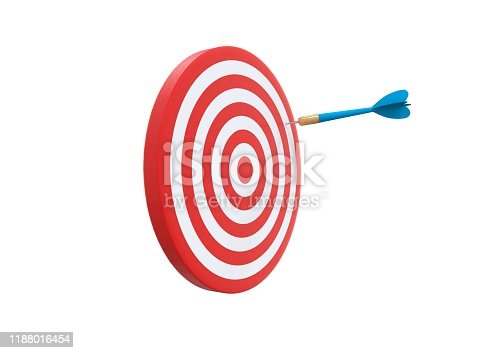 859332096 istock photo Dart game design arrow hitting at the edge 1188016454